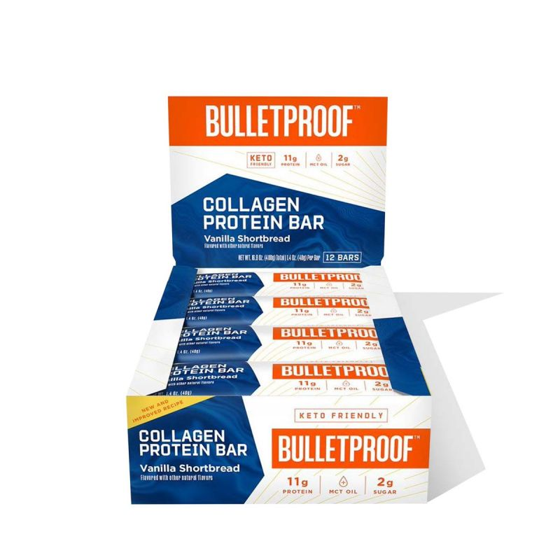 Bulletproof – Collagen Protein Bars, Vanilla Shortbread