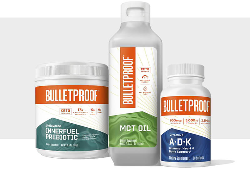 A range of Bulletproof products